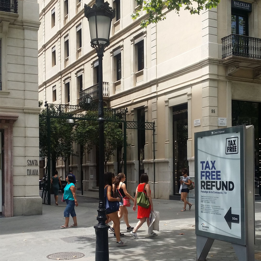 Tax Free in the centre of Barcelona. | Barcelona Shopping Line