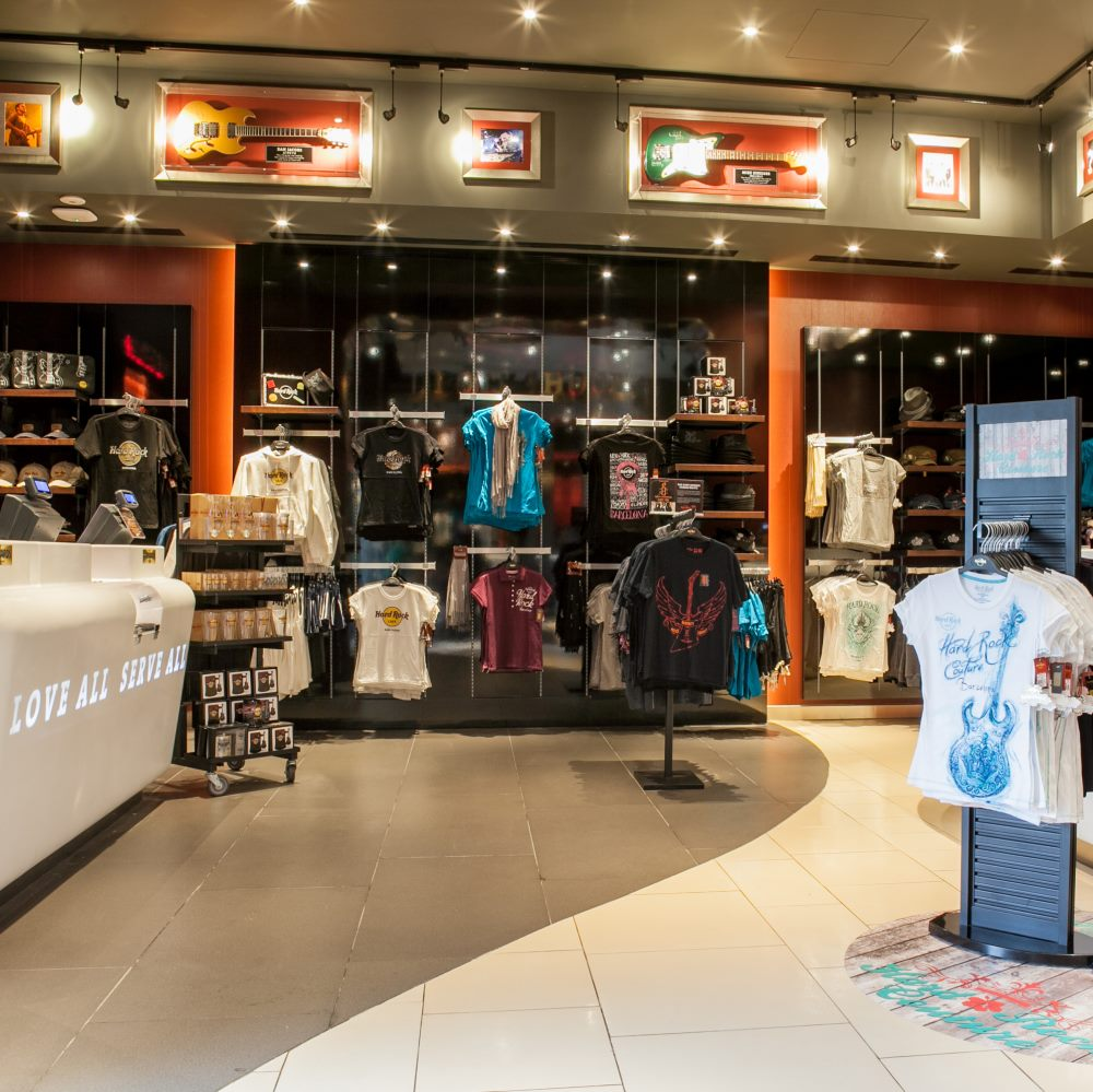 Hard Rock Cafe Barcelona Rock Shop | Barcelona Shopping Line | Moda